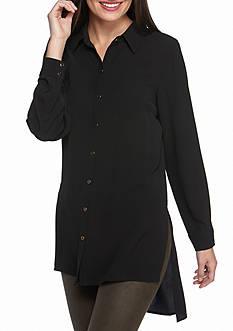 Spense Long Sleeve Front Button Shirt
