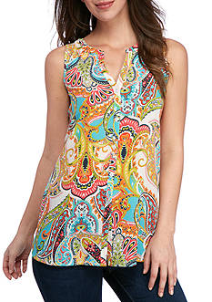 Spense Sleeveless Print Tunic