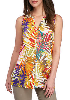 Spense Sleeveless Print Tunic