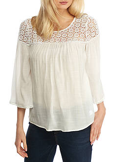 Spense 3/4 Sleeve Scoop Neck Top