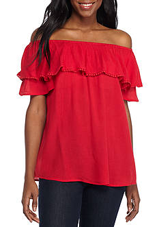 Spense Off the Shoulder Flounce Blouse