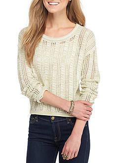 Oh M G! Vertical Open Stitch Sweater