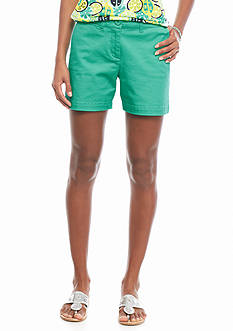 crown & ivy™ Solid Twill Shorts