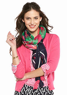 crown & ivy™ Flamingo Frolic Scarf