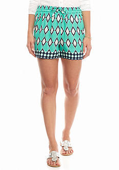 crown & ivy™ Tile Soft Shorts