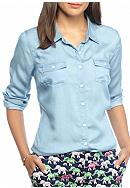Crown & Ivy™ Chambray Shirt