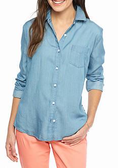 crown & ivy™ Stripe Back Shirt