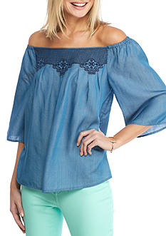 crown & ivy™ Tencel® Off Shoulder Top