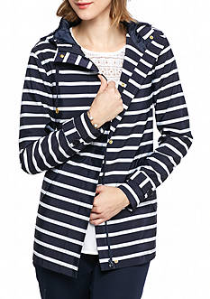crown & ivy™ Striped Hooded Jacket