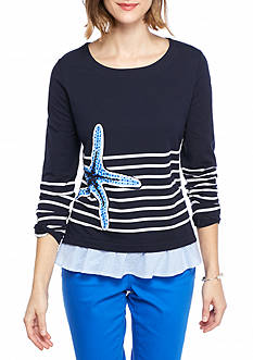 Crown & Ivy™ Graphic Starfish Sweatshirt