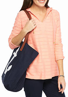 Crown & Ivy™ Lace Up Sweatshirt