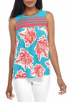 crown & ivy™ Twin Print Top