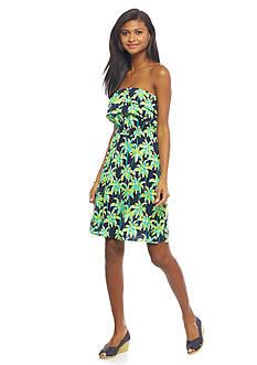 crown & ivy™ Strapless Monkey Ruffle Dress