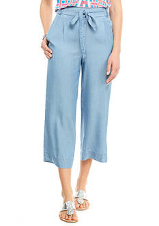 crown & ivy™ Chambray Tencel Crop Pants