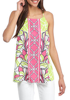 Crown & Ivy™ Print Apron Top