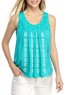 Crown & Ivy™ Embellished Swing Tank