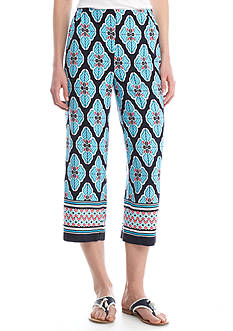 Crown & Ivy™ Print Soft Capri Pants