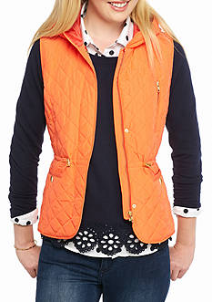 crown & ivy™ Hooded Quilted Vest