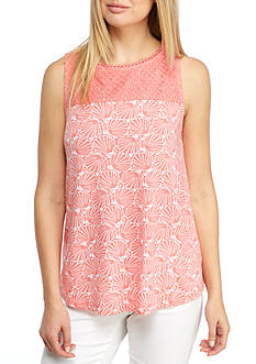 Crown & Ivy™ Sleeveless Print Knit Top