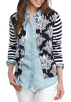 Crown & Ivy™ Petite Printed Cardigan