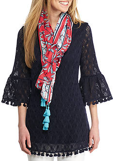 Crown & Ivy™ Dragonfly Tassel Scarf