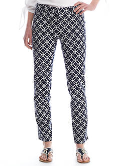 Crown & Ivy™ Print Flat Front Pants