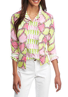 Crown & Ivy™ Print Cardigan