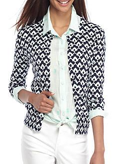 Crown & Ivy™ Printed Cardigan