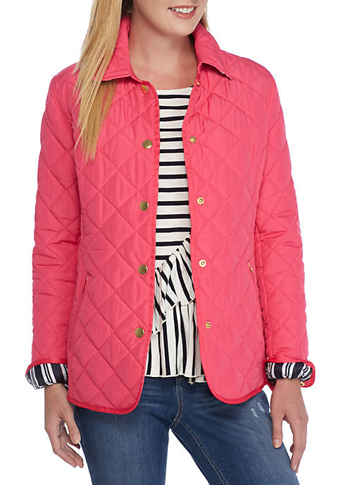 Crown Amp Ivy Quilted Barn Jacket Belk