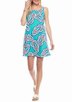 crown & ivy™ Sleeveless Printed Swing Dress