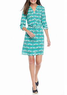 crown & ivy™ Printed Shirt Dress