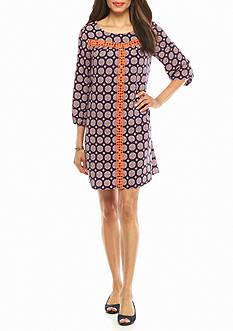 crown & ivy™ Printed Swing Dress