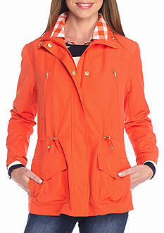 crown & ivy™ Solid Anorak Jacket