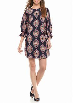 crown & ivy™ Smocked Sleeve Dress