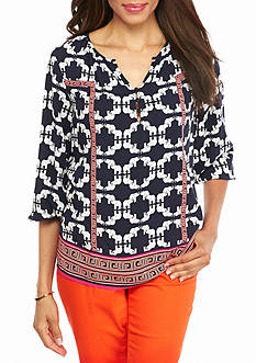 crown & ivy™ Elephant Printed Tunic