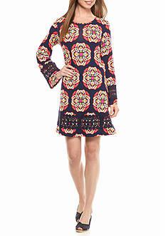 crown & ivy™ Crochet Trim Swing Dress