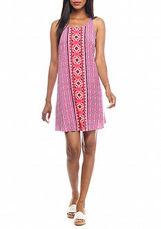 crown & ivy™ Sleeveless Print Swing Dress