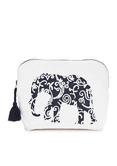 crown & ivy™ Single Elephant Cosmetic Bag