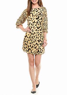 crown & ivy™ Bell-sleeve Printed Dress