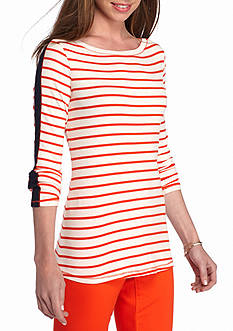 crown & ivy™ Stripe Ribbed Knit Top