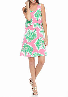 crown & ivy™ Printed Popover Dress