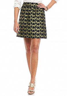 crown & ivy™ Zebra Metallic Jacquard Skirt