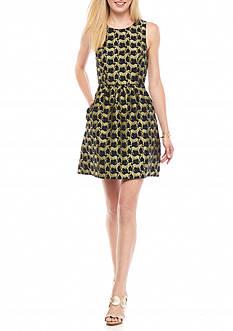 Crown & Ivy™ Metallic Zebra Dress