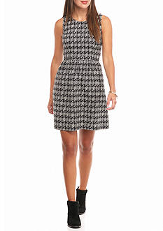 crown & ivy™ Geo Jacquard Fit Flare Dress