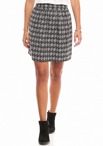 crown & ivy™ Geo Jacquard Skirt