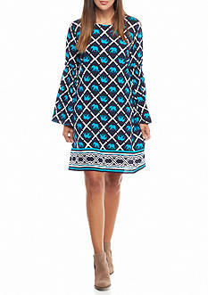 crown & ivy™ Long Sleeve Woven Dress