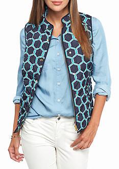 Crown & Ivy™ Printed Puffer Vest