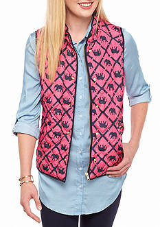 crown & ivy™ Printed Puffer Vest