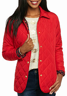 crown & ivy™ Quilted Barn Jacket