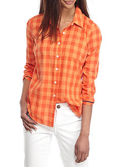 Crown & Ivy™ Festive Gingham Shirt